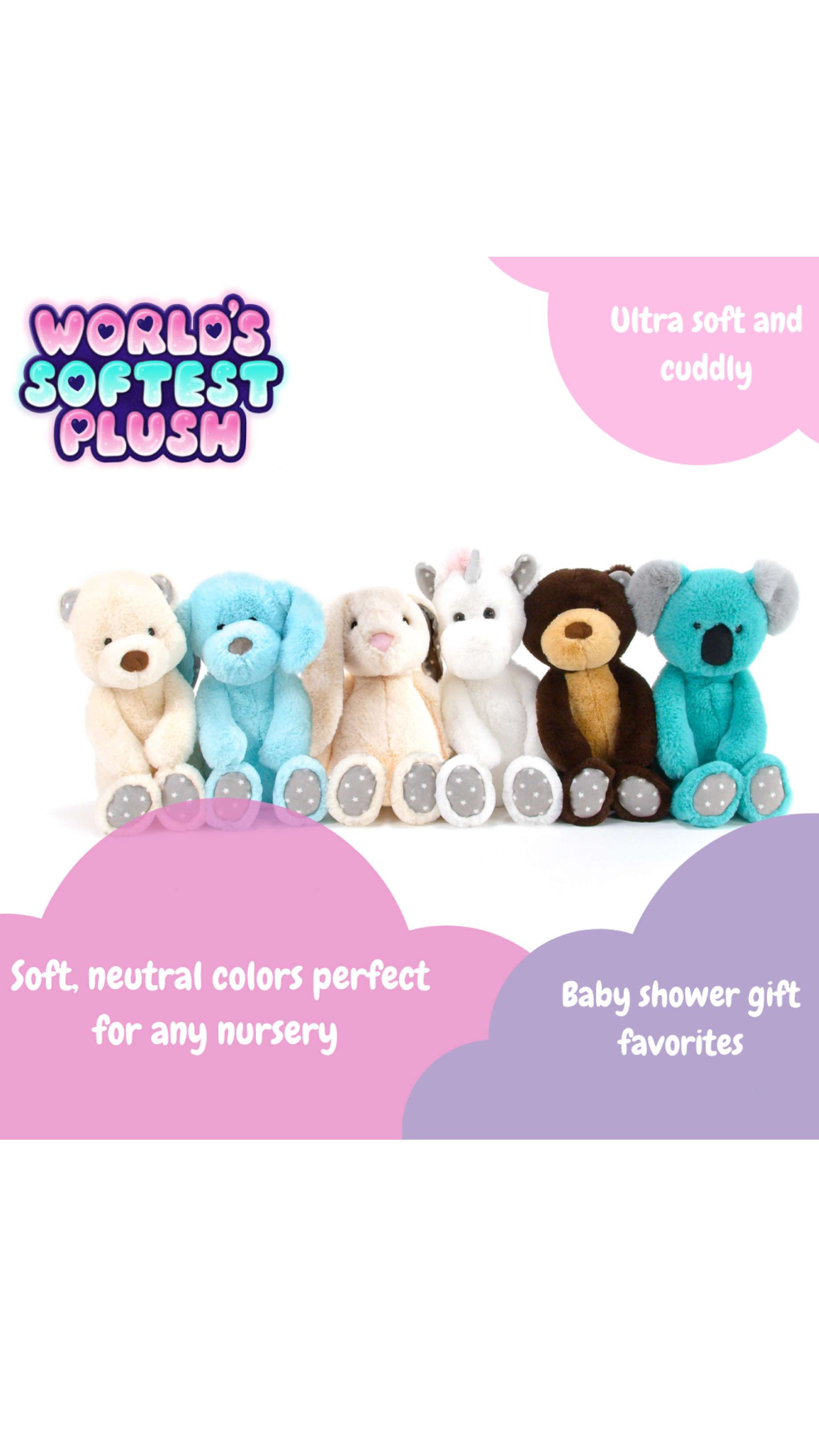 NEW PLUSH DROP! High-quality and so many cute, cuddley characters!